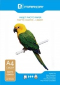 Mirror 128GSM Matte Coated Inkjet Photo Paper A4 -50 Sheets Eco Pack