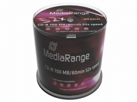 MediaRange Branded Blank CD-R 52x Write Speed - 100 Discs
