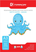 Mirror A3 160gsm Matt Removable Micro-Suction Inkjet Paper 10 sheets