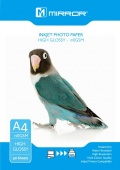 Mirror 190gsm High Gloss Coated Inkjet Photo Paper A4 -50 Sheets Eco Pack