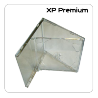 XP Premium Double CD Jewel Case With Clear Tray - 25 Pack