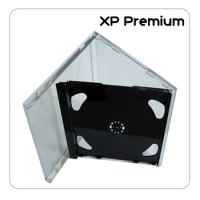 XP Premium Double CD Jewel Case With Black Tray - 25 Pack