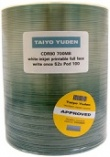 TAIYO YUDEN CD-R 48x WHITE FULL FACE INKJET PRINTABLE - 100 Stack