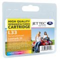 Jet Tec L33  (Lexmark 33) Remanufactured Colour Cartridge