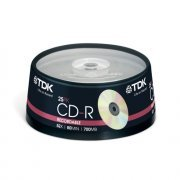 TDK CD-R Branded 52x - 25 Spindle Pack