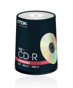 TDK CD-R Branded 52x - 100 Spindle Pack