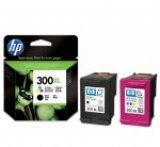 HP 300XL High Capacity Black & Colour Inkjet Cartridge (Combo)
