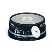 TDK DVD+R Branded 16x - 25 Spindle Pack