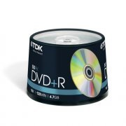 TDK DVD+R Branded 16x - 50 Spindle Pack