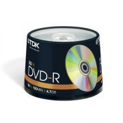 TDK DVD-R Branded 16x - 50 Spindle Pack