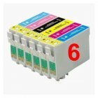 CVB Media Remanufactured Epson TO481-486 Multi-Pack B,C,M,Y, LM,LC Cartridges