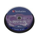 Verbatim 43666 DVD+R 8x Double Layer 10 Pack Spindle