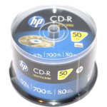 HP Lightscribe Printable Blank CD-R Media - 50 Pack