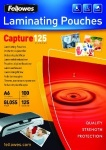 Fellowes Capture A6 125 Micron Glossy Laminating Pouches (Pack of 100)