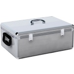 MediaRange 500 Disc Aluminium CD/ DVD Storage Box