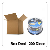 HP Lightscribe Printable Blank CD-R Media - Box Deal of 200 Discs