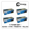 Compatible HP CE320A, CE321A, CE322A, CE323A Multi Pack of 4 Toners (CMYK)