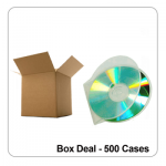 Genuine Clear C-Shell Clam Cases - 500 Bulk Box