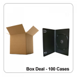 100 x Standard Grade 14mm Black Single DVD Case - Box Deal