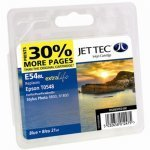 Jet Tec E54B Epson Compatible Blue Cartridge