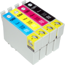 CVB Media Compatible Epson T1285 Multi-Pack B,C,M,Y Cartridges