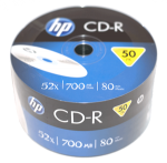 HP Branded Blank CD-R Media - 50 Pack