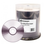 Microboards Shiny Silver Blank DVD-R 16x - 100 Spindle