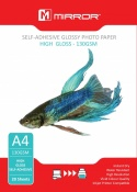 Mirror A4 130gsm Self-Adhesive High Gloss Photo Paper 20 Pack