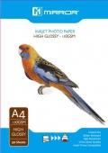 Mirror 150gsm High Gloss Coated Inkjet Photo Paper A4 -50 Sheets Eco Pack