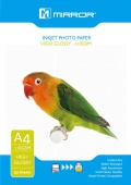 Mirror 210gsm High Gloss Coated Inkjet Photo Paper A4 -50 Sheets Eco Pack
