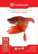 Mirror A4 220gsm Dual Coated Glossy/Glossy Photo Paper (20 Pack)