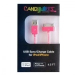 CANDYWIREZ NEON PINK iPOD/iPHONE CABLE