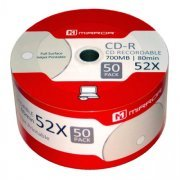 Mirror CD-R 52x Full Face White Inkjet Printable (50 Shriink Wrap)