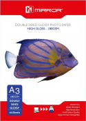Mirror A3 180gsm Premium Double Sided Gloss Inkjet Paper 25 Sheets