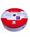 Mirror DVD+R Double Layer 8x Speed White Full Face Printable 25 Pack