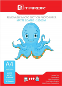 Mirror A4 160gsm Matt Removable Micro-Suction Inkjet Paper 10 sheets