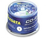 50 Tub - Traxdata /Ritek White Full Face Inkjet Printable CD-R 52x