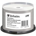 Verbatim 43734 DVD-R White Waterproof Full Face Printable 16x