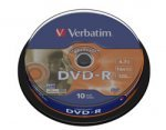 Verbatim Lightscribe 16x DVD-R 10 Spindle  Pack