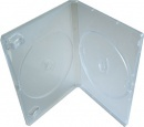 XP Premium Grade 14mm Semi-Clear Double Face on Face DVD Cases - 50 Pack