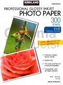 Kirkland Gloss 4x6 Photo Paper 255gsm - 300 Sheets