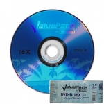 Traxdata Value Pack 16x Branded DVD-R F1 Dye - 25 Stack