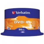 Verbatim DVD-R 16x Branded 50 Pack Spindle