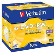 Verbatim 43246 DVD+RW 4x 10 Pack Jewel Case