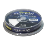 Traxdata Blank BluRay BD-R White Inkjet Printable 4x 25Gb 10 Pack