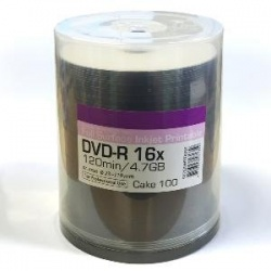 Traxdata/Ritek Excellence Series 16x DVD-R White Inkjet Printable 100 Spindle Tub