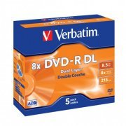 Verbatim DVD-R 8x Dual Layer 5pack Jewel Case
