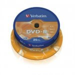 Verbatim 43522 DVD-R 16x 25 Pack Spindle