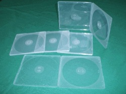 Double (2 Disc) Flexi Slimline 5.2mm CD Jewel Cases -Shatterproof