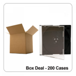 200 x Single Slim 5.2mm CD Jewel Cases - Box Deal